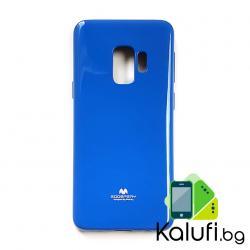 Оригинален кейс на Mercury за Samsung Galaxy S9 PLUS (S9+) (Гръб от силикон - TPU, Перлена Серия - НАСИТЕНО СИН)
