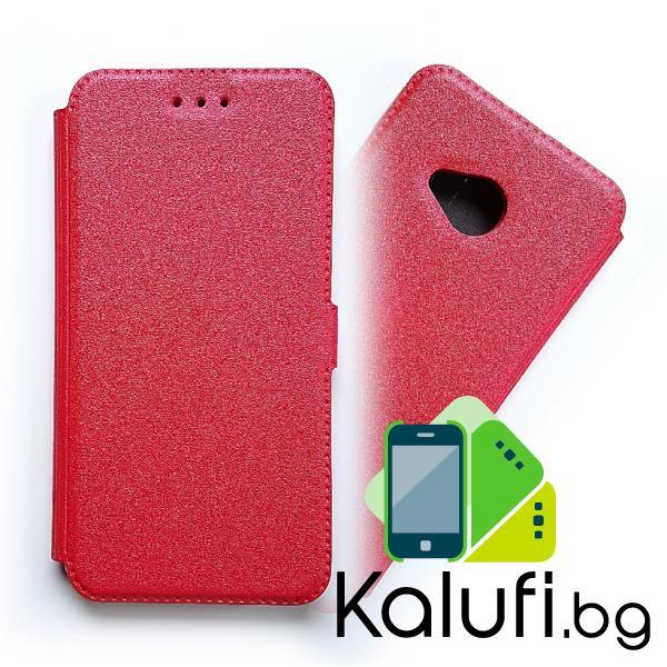 Калъф – тефтерче със страничен магнит за HTC U11 LIFE (ЧЕРВЕН)