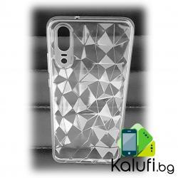"""Кейс с релеф """"диамант"""" за Huawei P20 PRO (Гръб от силикон - TPU, ПРОЗРАЧЕН)"""