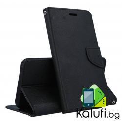 Fancy калъф - тефтерче с магнит за iPhone 12 (ЧЕРЕН)