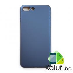 Ultra тънък твърд кейс за iPhone 7 PLUS (7+) / 8 PLUS (8+) (Гръб от поликарбонат, СИН)