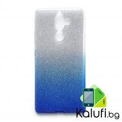 Тънък и прозрачен силиконов (TPU) гръб - кейс преливащ в синьо за NOKIA 7 PLUS (7+)